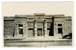 Ref 1338 - Early Real Photo Postcard - Museo De Arqueologia - Lima Peru - Peru