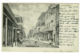 Ref 1338 - 1909 Postcard - Royal Street - New Orleans USA - 2c Rate To Bristol - New Orleans