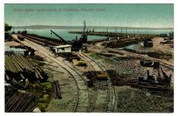 Ref 1338 - Early Postcard - Docks Under Construction At Christobal Panama USA Canal Zone - Panama