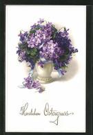 Künstler-AK Meissner & Buch (M&B) Nr.: 2512, Vase Mit Veilchen - Other Illustrators