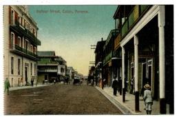 Ref 1338 - Early Postcard - Bolivar Street - Colon Panama USA Canal Zone - Panama