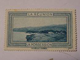 FRANCE COLONIES  Vignette LA REUNION - Tourism (Labels)