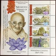 Tonga Niuafo'ou 2015 Animals Of India Gandhi Birds Sheetlet MNH - Stamps