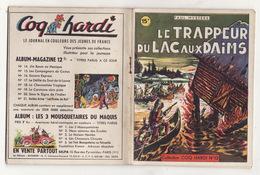LE TRAPPEUR DU LAC AUX DAIMS De PAUL MYSTERE 1947 Collection COQ HARDI N°12 - Aventure