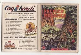 PREMIER MESSAGE De YVES DERMEZE 1947 Collection COQ HARDI N°7 - Aventure