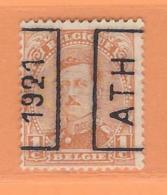 COB 135 Préoblitéré Type I  Position A  (used) ATH 1921 - Préoblitérés