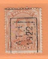 COB 135 Préoblitéré Type I  Position A  (used) ATH 1922 - Vorfrankiert