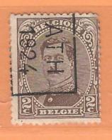 COB 136 Préoblitéré Type I  Position B  (used) ATH 1924 - Vorfrankiert
