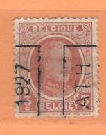 COB 192 Préoblitéré   Position A  (used) ATH 1927 - Vorfrankiert