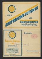 HAMBURG AMERIKA LINIE * HANSEATISCH SEEVERKEHRGESELLSCHAFT * 1921 * M S HAVELLAND * D WESTALEN * SCANS - Steamers