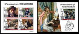 SIERRA LEONE 2019 - Pierre-Auguste Renoir. M/S + S/S Official Issue [SL191218] - Impressionisme