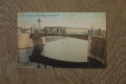Vilvoorde Cpa Pk Pont Du Canal Et Correction Animatie Couleur - Vilvoorde