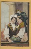C.P.A. Souvenir Et Costume D'Alsace - Costumes