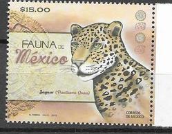 MEXICO, 2019, MNH, FAUNA, FELINES, JAGUARS, ARCHAEOLOGY,1v - Big Cats (cats Of Prey)