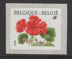 R90 (2854) Géranium  - Texte Au Verso En 1999 - Coil Stamps