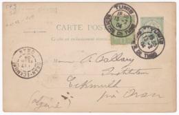 Tunisie  Entier Postal  Carte Postale CP9 Circulée Pour Oran Eckmuhl - Lettres & Documents