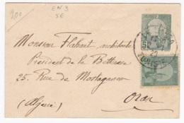 Tunisie  Entier Postal  Enveloppe EN3 (116 X 70) Circulée Pour Oran - Lettres & Documents