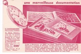 PUBLICITE(CHRONOMETRE SARDA) BESANCON - Publicité