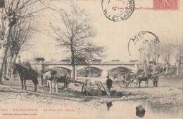 V3- 65) MAUBOURGUET 5HAUTES PYRENEES)  LE PONT SUR L' ECHEZ - (TRES ANIMEE) - Maubourguet