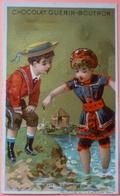 IMAGE CHROMO - CHOCOLAT GUERIN BOUTRON - IL FAIT TROP FROID - SCAN RECTO/VERSO - Guérin-Boutron