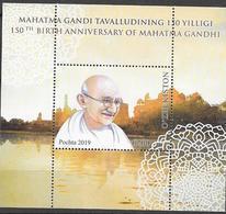 UZBEKISTAN, 2019, MNH,  GANDHI, S/SHEET - Mahatma Gandhi