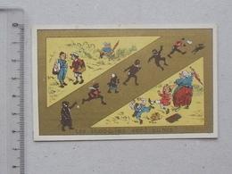 """AGEN CHROMO Horlogerie A LA BOULE D'OR - Proverbe Citation """"Les Indociles Sont Punis"""" - Enfant Ecolier Punition HUMOUR - Trade Cards"""
