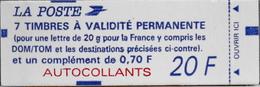 FR. CARNET 1506 NEUF NON OUVERT - Type Mariane De Briat - 7 Timbres TVP Neufs Autoadhésifs - Usados Corriente