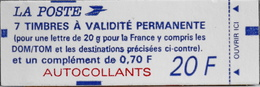 FR. CARNET 1506 NEUF NON OUVERT - Type Mariane De Briat - 7 Timbres TVP Neufs Autoadhésifs - Freimarke