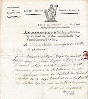 Prairial An 5 (1797) Le Directeur TRIBUNAL DE POLICE Correctionnelle D'AIX Au Canton De GARDANNE (13) - Documenti Storici