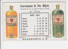Vloeipapier / Buvard - Caremans & De Rijck - Duckworth & C° - Limonade - Antwerpen - Liqueur & Bière