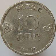 LaZooRo: Norway 10 Ore 1915 XF / UNC - Silver - Norvège