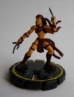 FIGURINE HEROCLIX MARVEL ELEKTRA Rareté 2 Socle Jaune (2) - Marvel Heroes