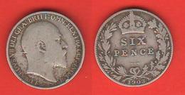 England 6 Six Pence 1903 Inghilterra Gran Bretagna Great Britain Grande Bretagne UK - 1902-1971 : Monete Post-Vittoriane