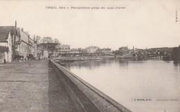 DPT 60 CREIL Perspective Prise Du Quai D'Aval CPA TTBE Imppecable - Creil
