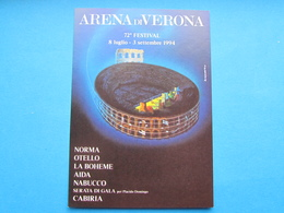 ARENA DI VERONA 72° FESTIVAL 1994 NV - Publicité