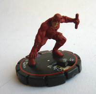 FIGURINE HEROCLIX MARVEL DARDEVIL ACCROUPI Rareté 4 Socle ROUGE - Marvel Heroes