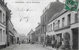 SOLESMES -   1909 -  HOTEL ET CAFE DE LA HURE -  RUE DE VALENCIENNES - Solesmes