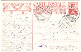 1909 10RP. Ganzsachenkarte Aus Basel Nach Lorenco Marques, Portug. Afrika - Enteros Postales