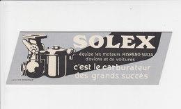 Bladwijzer / Signet / Bookmark - Solex Moteurs Hispano-Suiza / Costes Et Le Brix - Marque-Pages