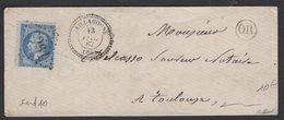 Pyrénées Orientales: Pli De 1867 Avec 20c Empire Dentelé Oblt GC 3261 + CàD Type 22 De SAILLAGOUSE - 1849-1876: Klassieke Periode