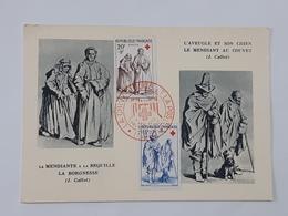 Carte Maximum - FDC - Premier Jour - Croix Rouge - Niort - Maximaphiles Algériens ... Lot75 . - 1950-59