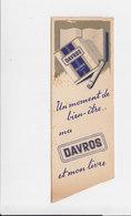 Bladwijzer / Signet / Bookmark - Davros Sigaretten / Cigarettes - Marque-Pages