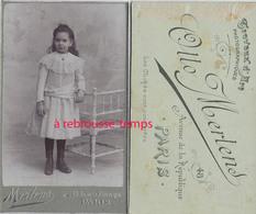 CDV Petite Fille Coquette-photo Mertens à Paris - Photos