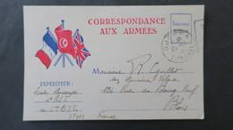 Carte Franchise Militaire Décembre 1939 Oblitération  Djerba Tunisie Pour Blois - Marcophilie (Lettres)