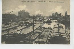 """STRASBOURG - Le Port Du Rhin - Bassin Du Commerce (péniches Dont Péniche """"LIMOUSIN """") - Strasbourg"""