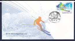 Korea FDC 2018 Olympic Games PyeongChang - From 2011 Thank You (H59B) - Inverno 2018 : Pyeongchang