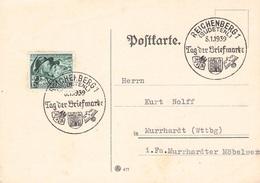 BÖHMEN & MÄHREN - POSTKARTE REICHENBERG 8.1.39 TAG DER BRIEFMARKE //ak240 - Böhmen Und Mähren