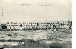 N°4232 T -cpa Cherbourg -champ De Manoeuvre- - Casernas