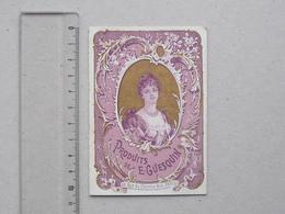 CHROMO GUESQUIN Parfum Chimiste (Double Page): PORTRAIT DE FEMME Exposition PARIS 1900 - Publicité Tarif - SIRVEN - Trade Cards