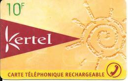 -CARTE PREPAYEE-FR-KERTEL-LA POSTE-10F-R)Escargot De Sable-V° N° Code Sur Fond Gris-V° CotéDroit Vertical Kertel--TBE- - France